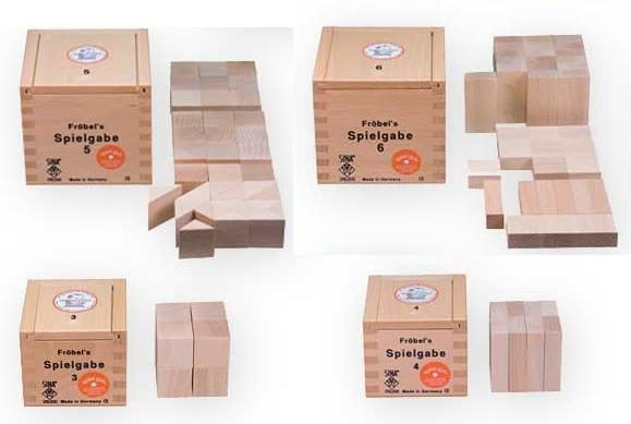 Building blocks designed by Friedrich Froebel